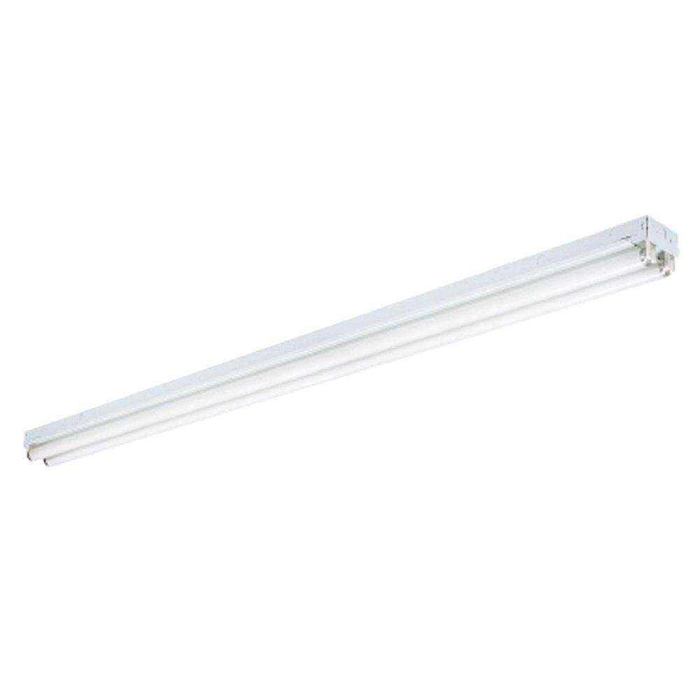 medium resolution of lithonia lighting 2 light white ceiling commercial strip fluorescent light