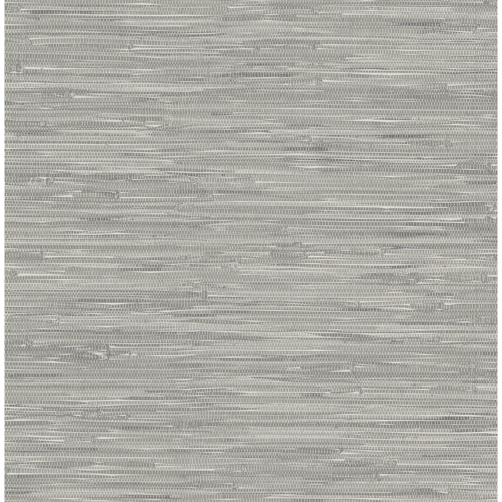 NuWallpaper Grey Tibetan Grasscloth Peel and Stick