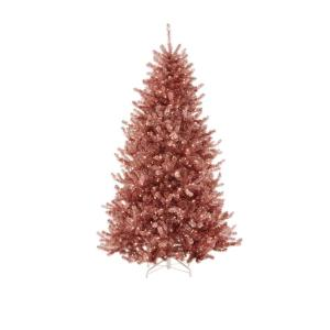 Martha Stewart Living 75 Ft Pre Lit Sterling Tinsel Pink