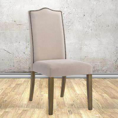 cream upholstered dining chairs high chair covers target modern wood kitchen room romero linen parsons