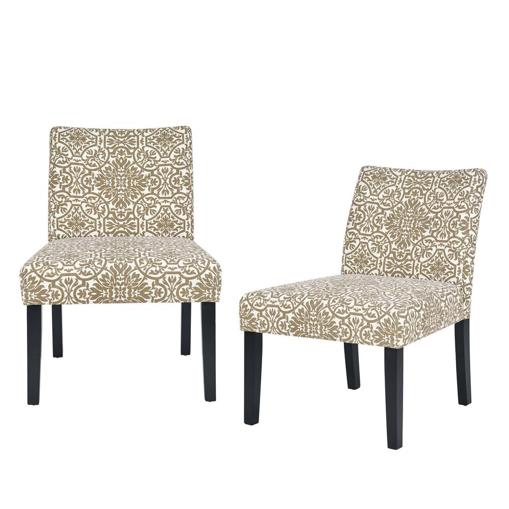 Damask Chair Handy Living Nate Barley Gray Damask Side Chairs Set Of 2