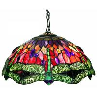 Warehouse of Tiffany Dragonfly 2-Light Brown Stained Glass ...