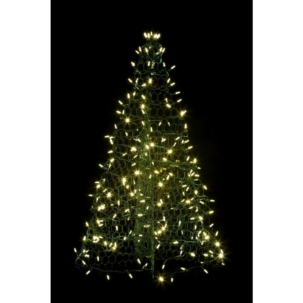 Crab Pot Trees 3 Ft Pre Lit Led Green Artificial Christmas Tree With