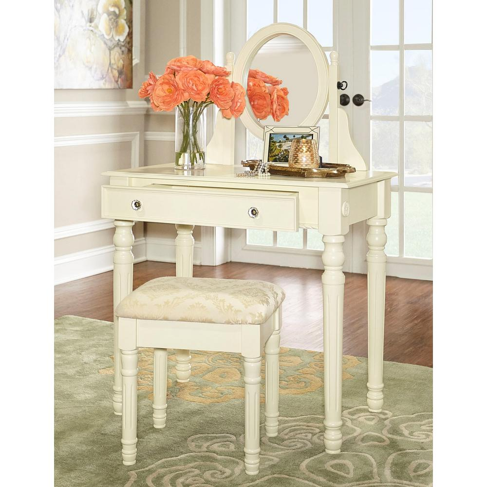 Home Decorators Collection Lorraine Bedroom Vanity Set in White58010WHT01KDU  The Home Depot