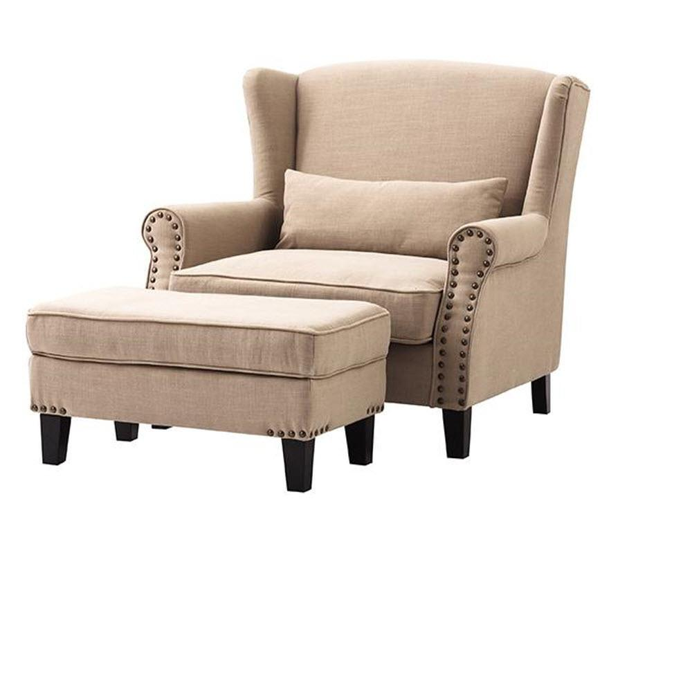 Chairs With Ottoman Details About Home Decorators Collection Arm Chair Ottoman Beige Linen Living Room Furniture
