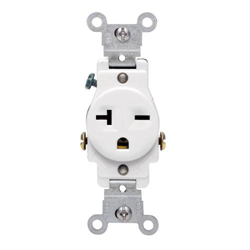 small resolution of leviton 20 amp commercial grade double pole single outlet white