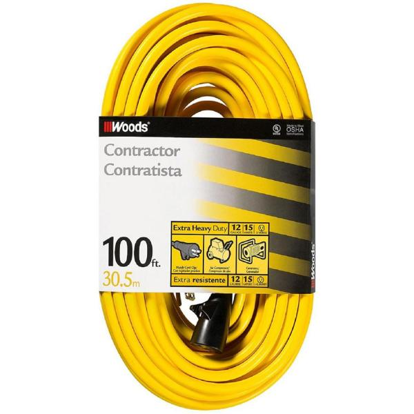 Woods 100 Ft. 12 3 Sjtw -visibility Outdoor Extra Heavy