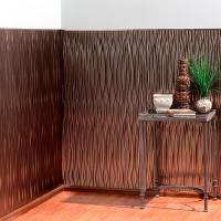 Fasade Waves Vertical 96 in. x 48 in. Decorative Wall ...