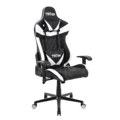 Video Game Chair Upholstered Dining Room Chairs With Skirt Techni Sport White And Black Ergonomic High Back Racer Style Gaming Rta Tsxl1 Wht The Home Depot