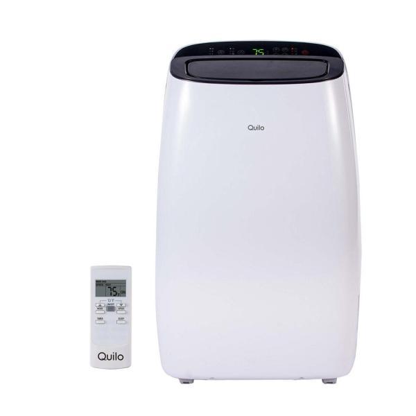 Quilo 14 000 Btu 115-volt Portable Air Conditioner With Remote Control And Dehumidifier In White