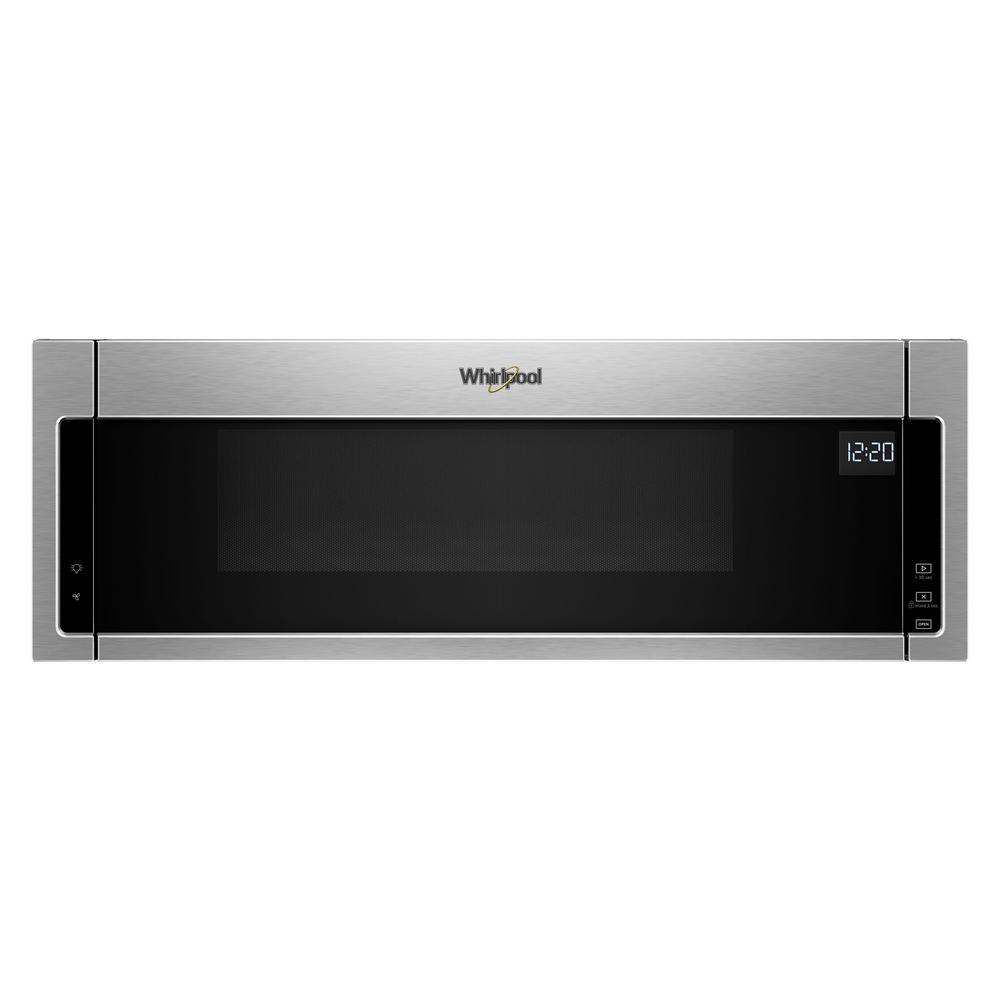 hight resolution of over the range low profile microwave hood combination in stainless