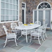 Home Styles Floral Blossom White 7-piece -weather Patio