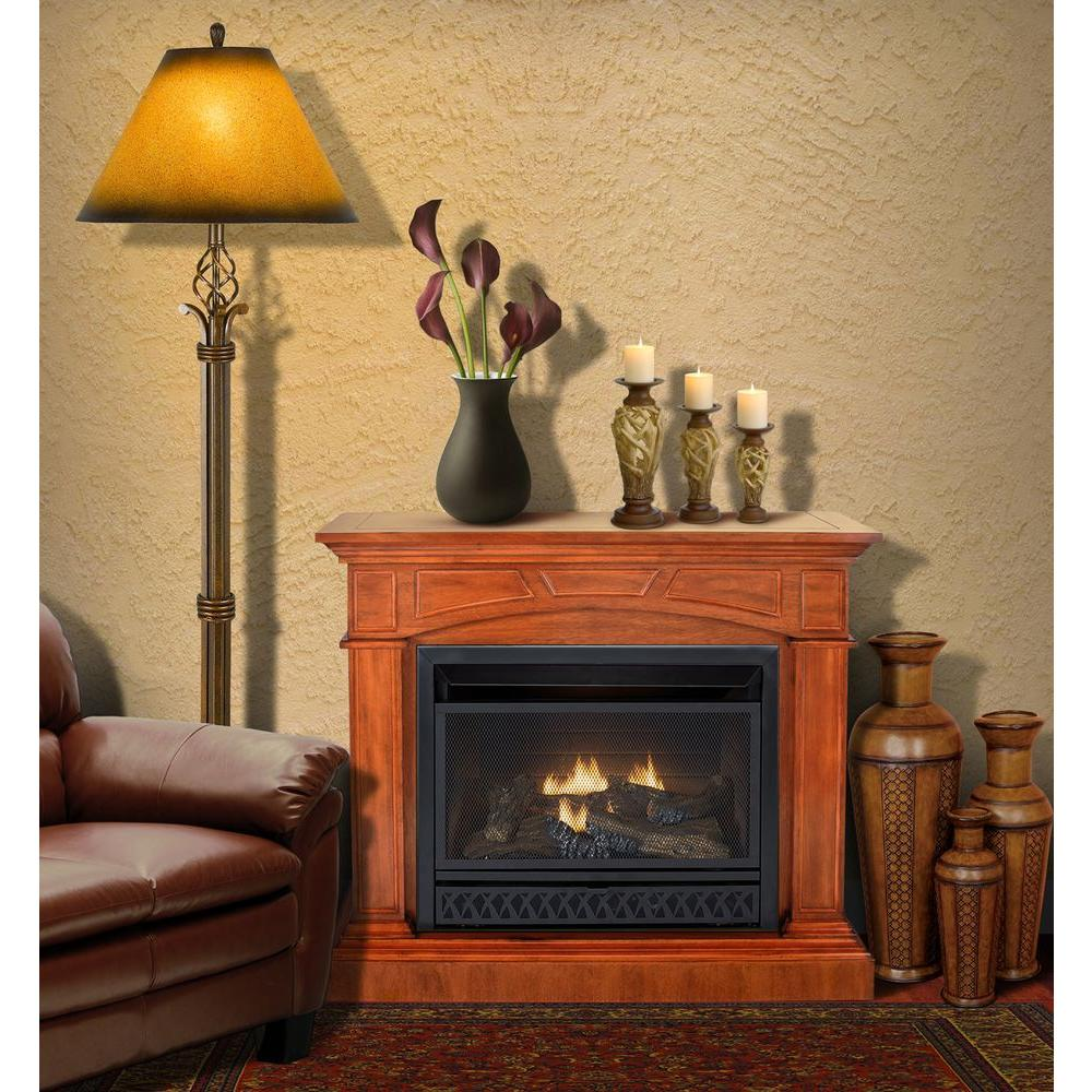 Emberglow 43 in Convertible VentFree Dual Fuel Gas Fireplace in CherryVFF26NLM  The Home Depot