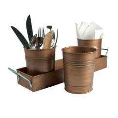 Kitchen Utensils Holder Soap Caddy Utensil Holders The Home Depot 4 In D X 5 H 17 L Flatware