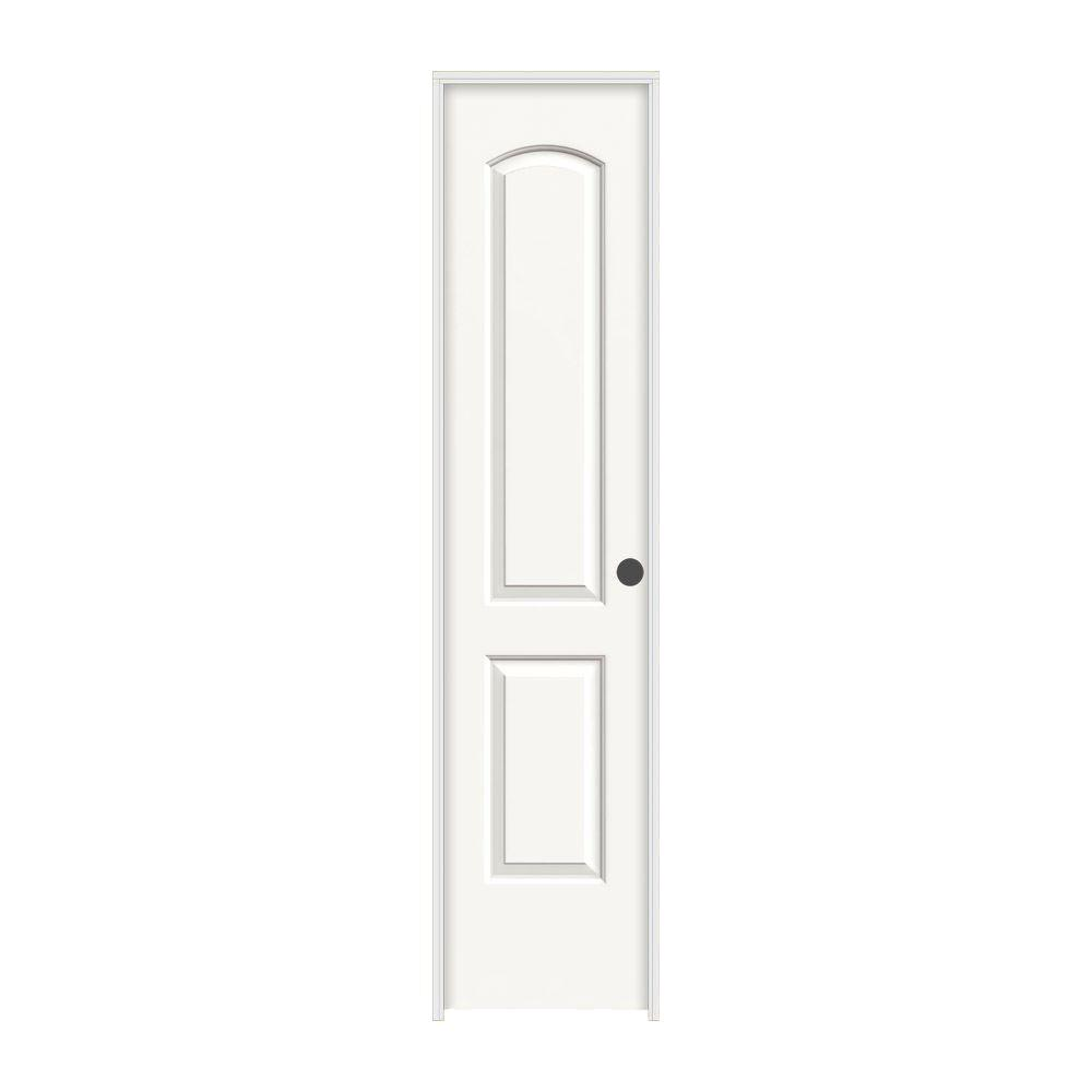 JELD-WEN 18 in. x 80 in. Continental White Painted Left