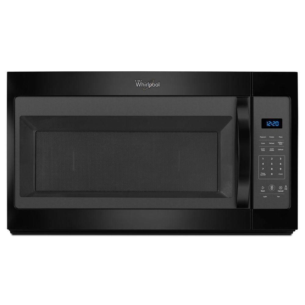 medium resolution of whirlpool 1 7 cu ft over the range microwave in white wmh31017fw the home depot
