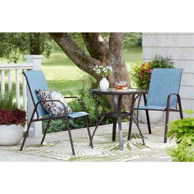 stackable outdoor chairs chair images free download dining patio the home depot mix and match brown sling in conley denim 2 pack