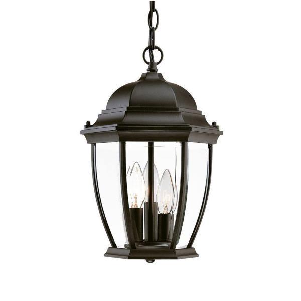 Acclaim Lighting Wexford Collection Hanging Lantern 3-light Outdoor Matte Black Light Fixture