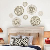 WallPOPs Neutral Chrysanthemum Wall Decal-WPK1266 - The ...