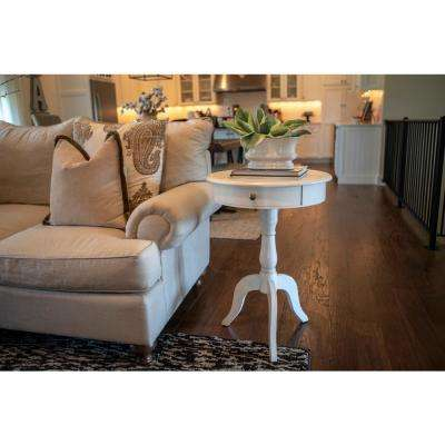 antique white living room tables wall mirrors furniture the home depot pedestal end table with drawer eased edge