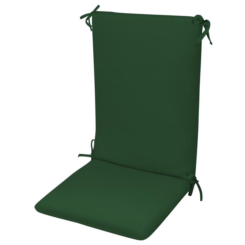 how much fabric to cover a chair cushion types of office chairs paradise cushions high back knife edge hinged solution dyed polyester fiber fill forest