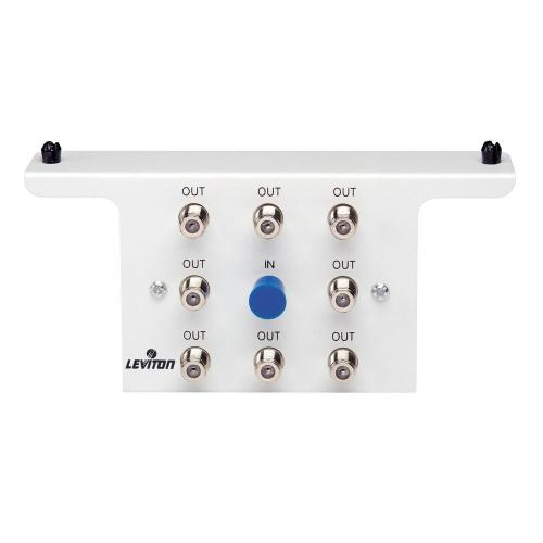 small resolution of leviton structured media 1x8 8 way 2 05ghz white passive video structured wiring 8 port cable tv antenna system splitter module