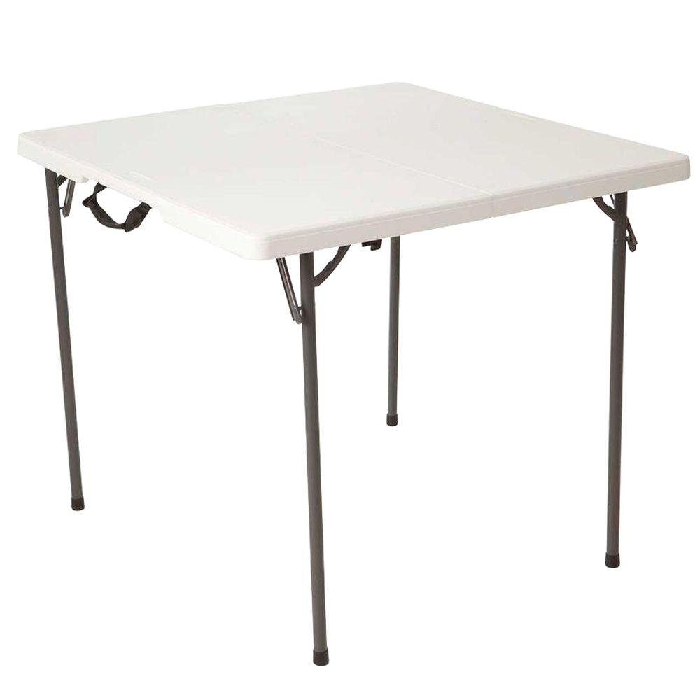 folding desk chair swivel high baby square tables chairs furniture the home depot white granite fold in half table