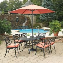 Home Styles Biscayne Black 9-piece Cast Aluminum Outdoor