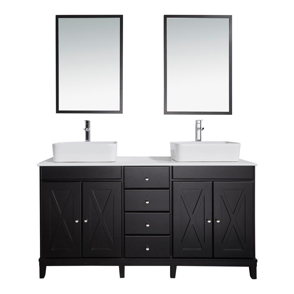 OVE Decors 60 In W X 21 In D Vanity In Espresso With