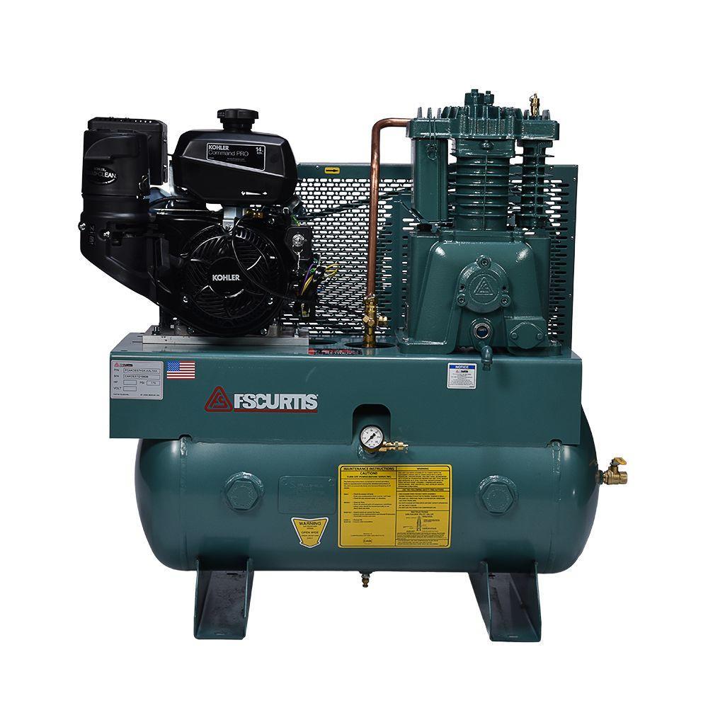 hight resolution of fs curtis 30 gal 14 hp horizontal gas air compressor fcakde57h3x rh homedepot com industrial air compressor ingersoll rand air compressor