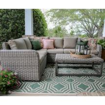 Forsyth 5-piece Wicker Outdoor Sectional Set With Tan