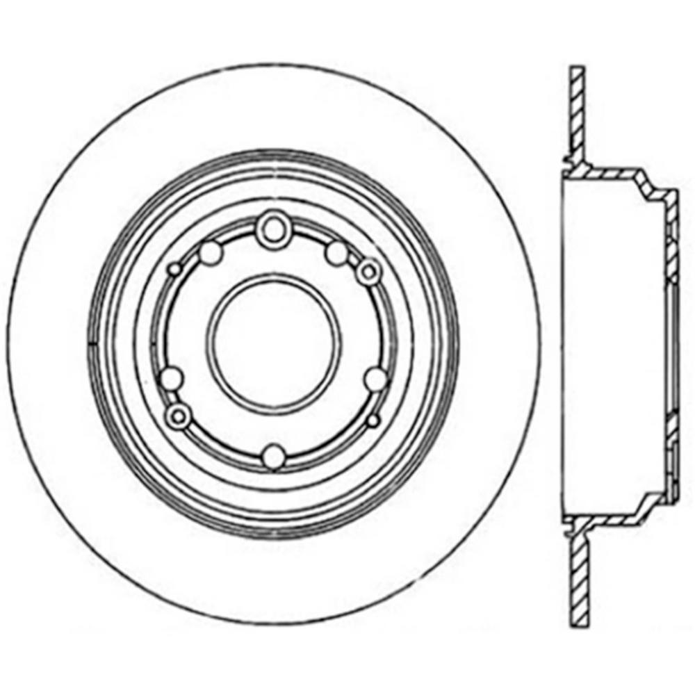 Centric Parts Disc Brake Rotor 1999-2001 Acura RL-121