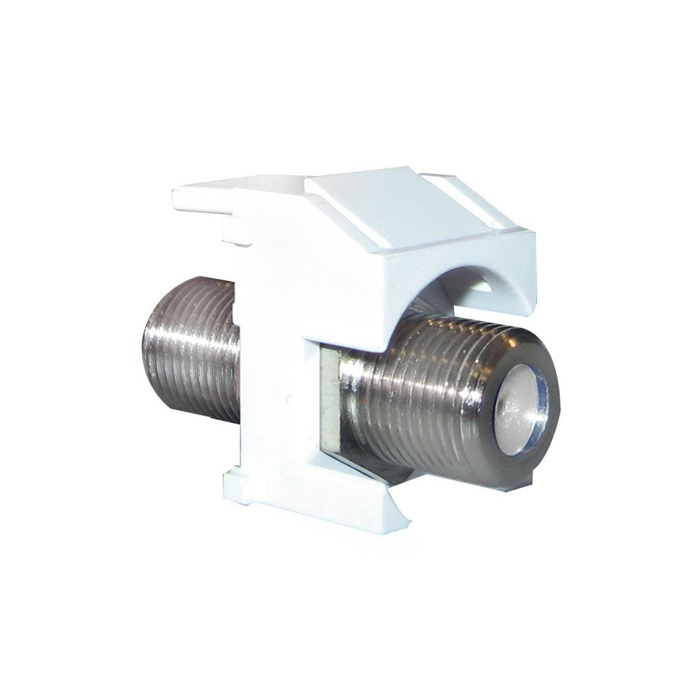 hight resolution of keystone nickel recessed f connector white