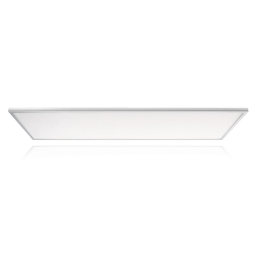hight resolution of leviton skytile 50 watt brushed aluminum 2 x 4 integrated led flat panel light