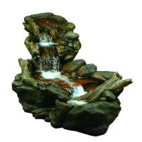 Alpine 3-Tier Rainforest Fountain with LED Lights-WIN558 ...