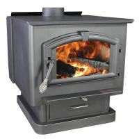 US Stove 3,000 sq. ft. EPA Certified Wood-Burning Stove ...