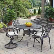 Oakland Living Elite Resin Wicker 5 Piece Patio Dining Set