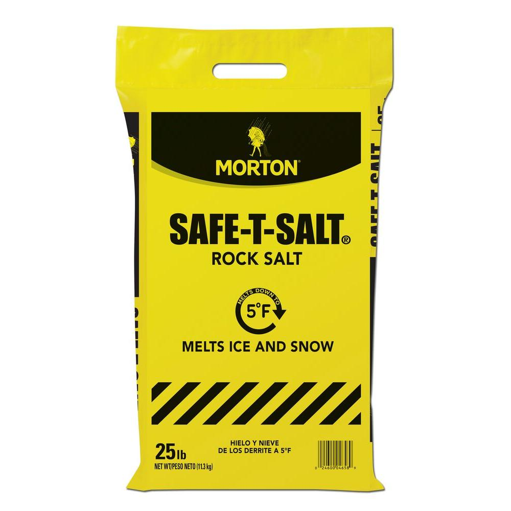 Morton Salt 25 Lb Rock Salt Bag 4658 The Home Depot