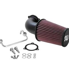 k n 08 09 h d touring models aircharger performance intake [ 1000 x 1000 Pixel ]
