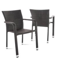 Noble House Dover Multi-brown Stackable Wicker Outdoor
