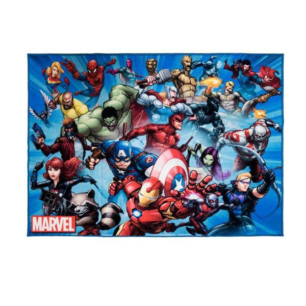 Marvel Super Heroes Multi-color 5 Ft. X 7 Indoor