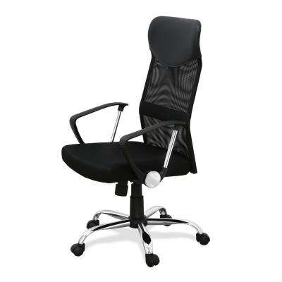 revolving chair for doctor howard elliott puff office chairs home furniture the depot hidup black high back