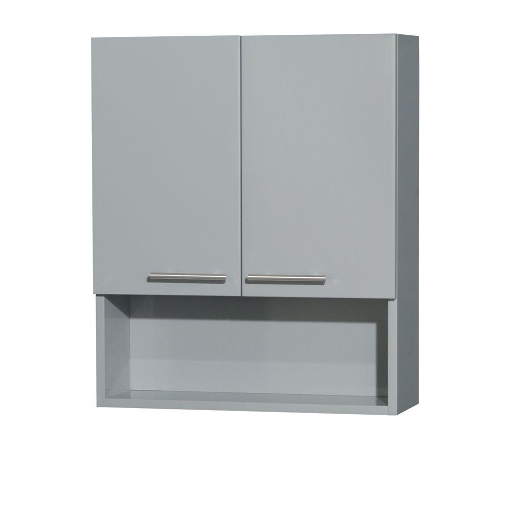 Wall Cabinets For Bathrooms Wyndham Collection Amare 24 In W X 29 In H X 8 3 4 In D Bathroom Storage Wall Cabinet In Dove Gray