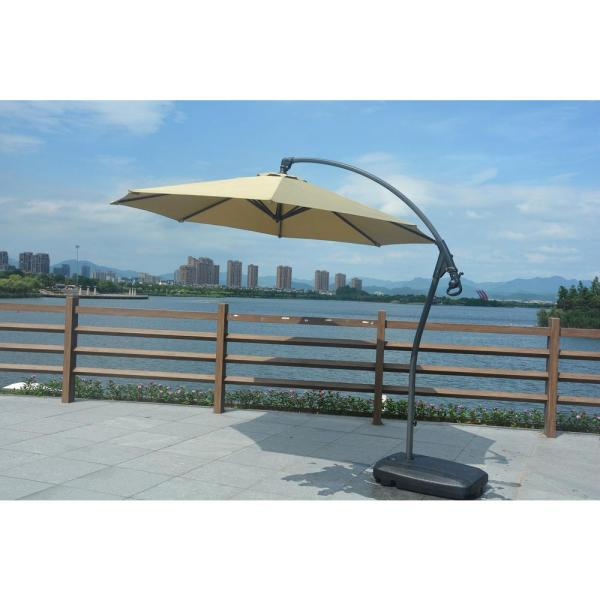 Direct Wicker Madeleine 10 Ft. Coated Steel Cantilever