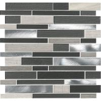 Urban Loft Interlocking 12 in. x 12 in. x 4 mm Glass Stone ...