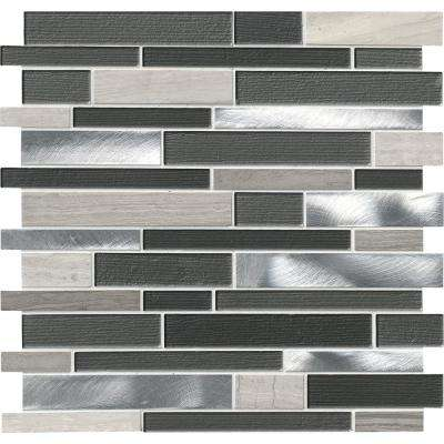 mosaic backsplash kitchen commercial exhaust fan tile the home depot urban loft interlocking 12 in x 4mm glass stone and metal