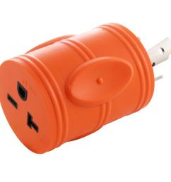 locking adapter nema l6 30p 30 amp 250 volt locking plug to nema 6 15 20r 15 20 amp 250 volt female connector adl630620 the home depot [ 1000 x 1000 Pixel ]