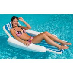 Pool Floating Lounge Chairs Lane Office Chair Leather Swimline Blue White Sunchaser Sling Style