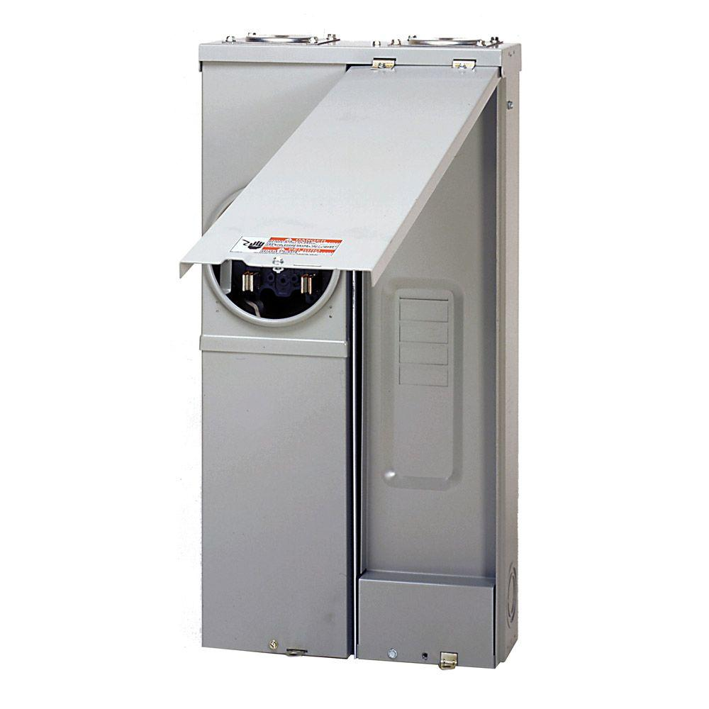 medium resolution of eaton 200 amp 2 space 4 circuit br type main lug meter breaker surface
