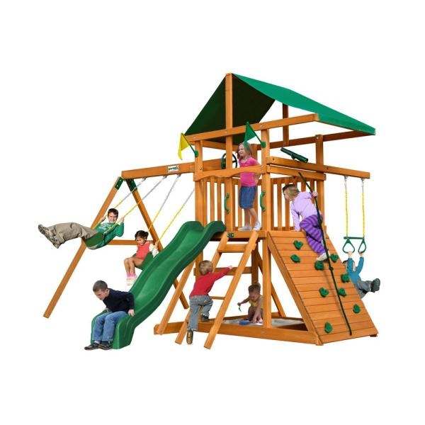 Gorilla Playsets Outing Iii Cedar Playset-01-0001 - Home Depot